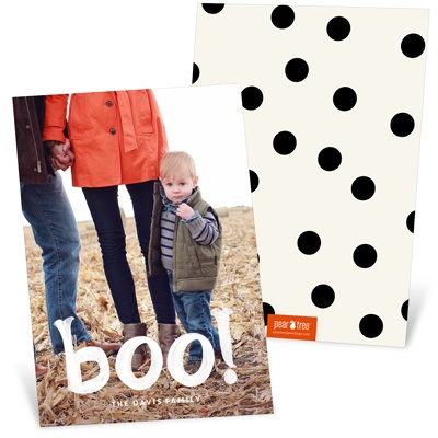 Ghostly Boo Halloween Photo Cards