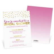Showered With Gold Bridal Shower Invitations