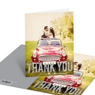 Faux Glitter Big Thanks Wedding Thank You Cards