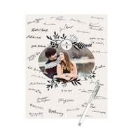 Oval Frame Guest Book Print