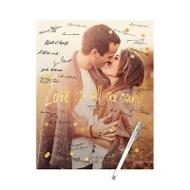 Faux Foil Confetti Vertical Guest Book Print