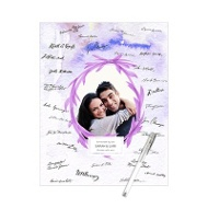 Watercolor Wreath Frame Guest Book Print