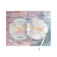 Watercolor Overlapping Circles Guest Book Print