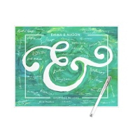 Swirling Ampersand Guest Book Print