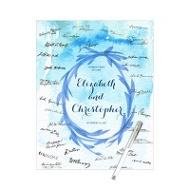 Watercolor Wreath -- Guest Book Print