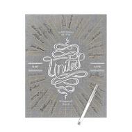 Linen Look Burst Guest Book Print