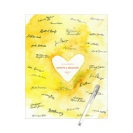 Watercolor Heart Guest Book Print