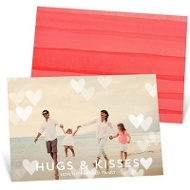 Floating Hearts Valentine's Day Photo Cards