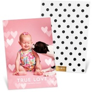 Floating Hearts Vertical Valentine's Day Photo Cards