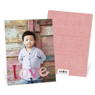 Painted Message Vertical Valentine's Day Photo Cards
