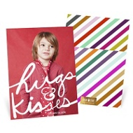 Big Hugs Vertical Valentine's Day Photo Cards