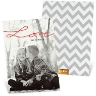 Love Script Vertical Valentine's Day Photo Cards