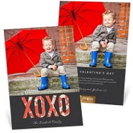 Word Patterns Valentine's Day Photo Cards