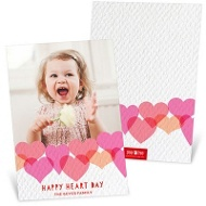 Textured Hearts Valentine's Day Photo Cards