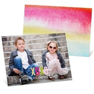 XOXO Foil Look Valentine's Day Photo Cards