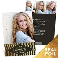 Gold Foil Diamonds Graduation Announcements