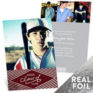 Silver Foil Diamonds Graduation Announcements
