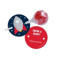To The Moon Lollipop Holder Classroom Valentines