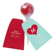 Caped Crusader Lollipop Holder Classroom Valentines
