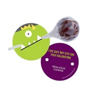 Monster Lollipop Holder Classroom Valentines