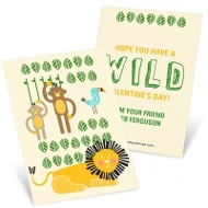 Wild Jungle Classroom Valentines