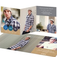 Year In Dots Trifold Graduation Announcements