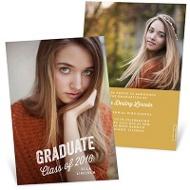 Rustic Grad Vertical Graduation Announcements