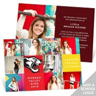 Patchwork Of Photos With Logo Graduation Announcements
