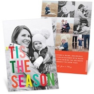 Multicolor Message Holiday Photo Cards