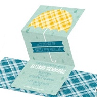Plaid Umbrella Baby Shower Invitations
