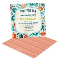 Tea Time In Teal Baby Shower Invitations