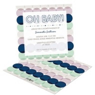 Mint & Berry Circles Baby Shower Invitations