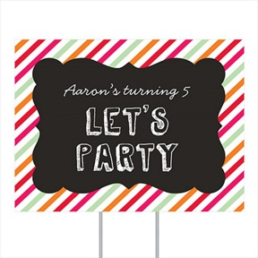 Sip Something Cool Yard Sign -- Kids Party Decorations