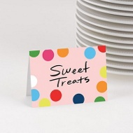 Circus Colors Table Cards -- Kids Party Decorations