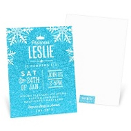 Crystal Princess Kids Birthday Invitations