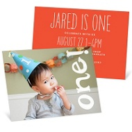 Painted One 1st Birthday Invitations