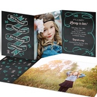 Chalk Art -- Kids Birthday Invitations