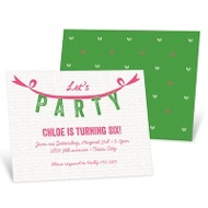 Party Garland -- Kids Birthday Invitations