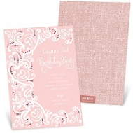 Fancy Filigree -- Kids Birthday Invitations
