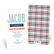 Precious Plaid -- Kids Birthday Invitations