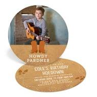 Happy Hoedown Photo -- Kids Birthday Invitations