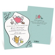 Tea Party Kids Birthday Invitations