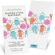 Tea Time Kids Birthday Invitations