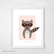 Woodsy Raccoon -- Wall Art
