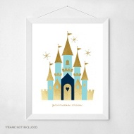 Princess Castle -- Wall Art
