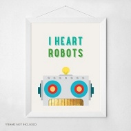 Robot Love -- Wall Art