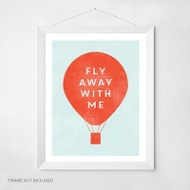 Hot Air Balloon -- Wall Art