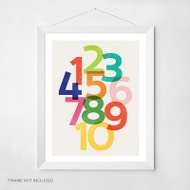 Count To Ten -- Wall Art