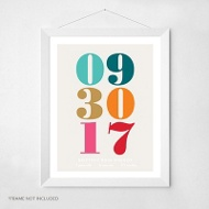 Multicolored Birthday -- Wall Art