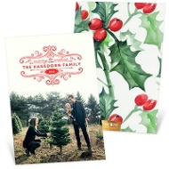 Old Tyme Christmas Holiday Photo Cards